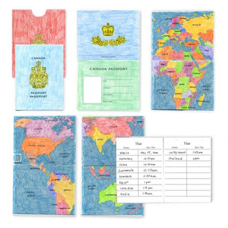 pretend passport for students