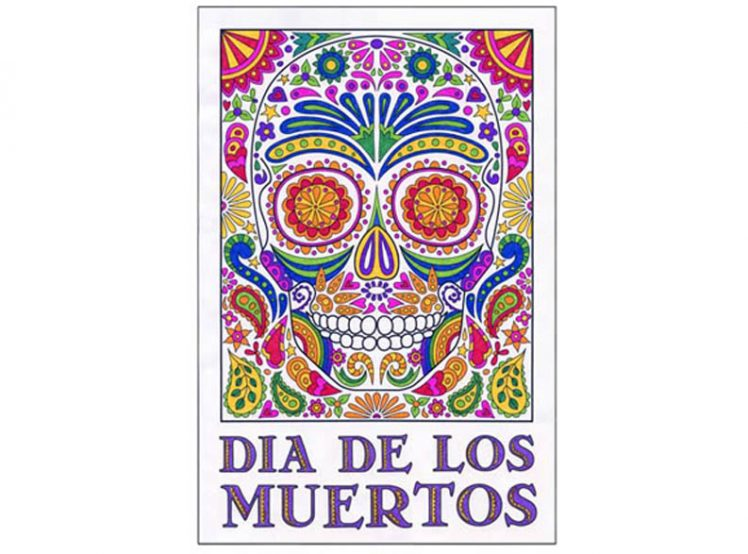 Day of the dead mural art projects for kids for Dia de los muertos mural