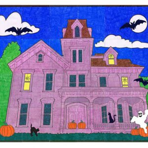 haunted house collaborative art project