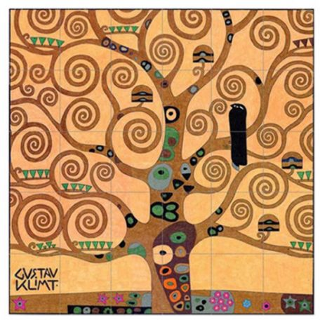 Klimt Tree of LIfe collaborative art project