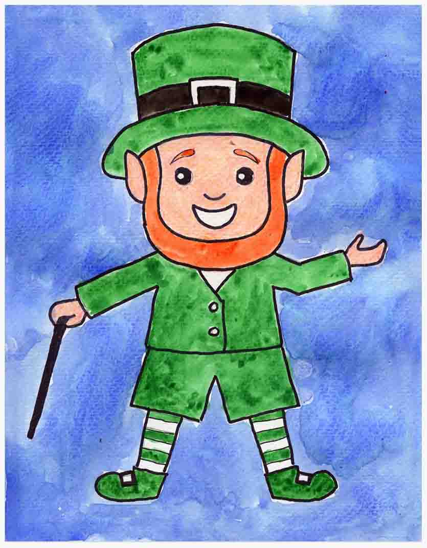 Drawing a Leprechaun · Art Projects for Kids