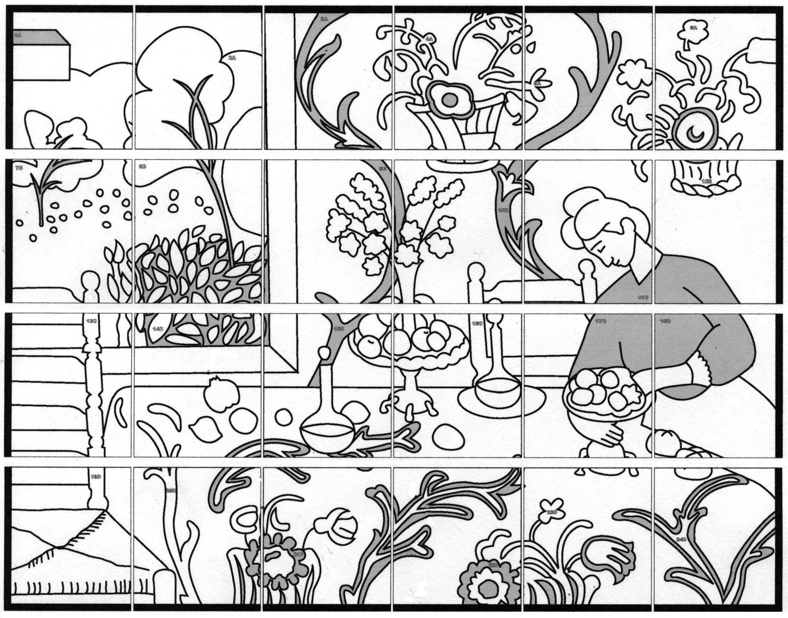 d arte mural coloring pages - photo#2