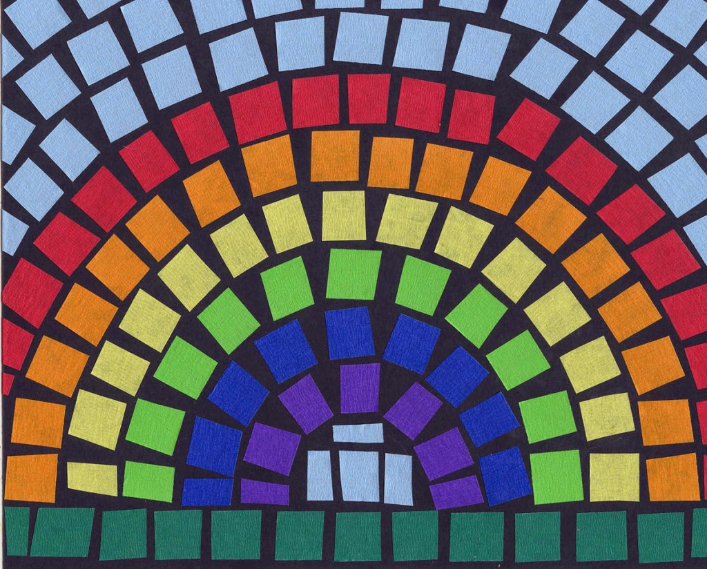 Mosaic tape rainbow art projects for kids i love finding childrens mosaic art projects especially ones that are guaranteed to lay down nice and flat like with this colored masking tape sciox Image collections