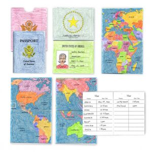 pretend passport template