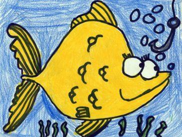 Draw Cartoon fish