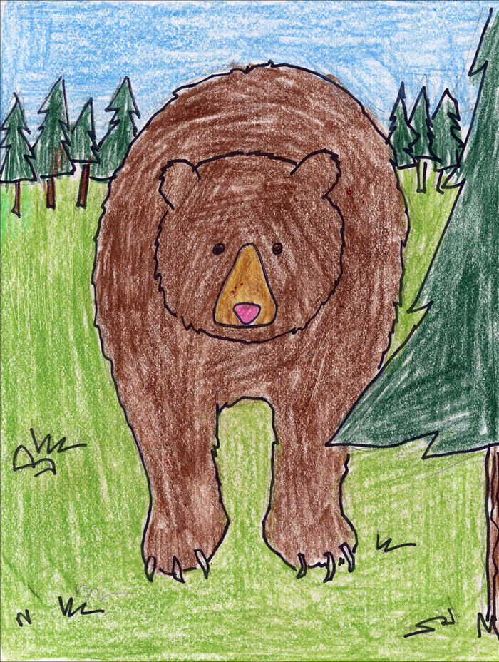 i was inspired to create this bear drawing from a diagram at appalachian bear rescue i altered their instructions a bit to make the bear symmetrical