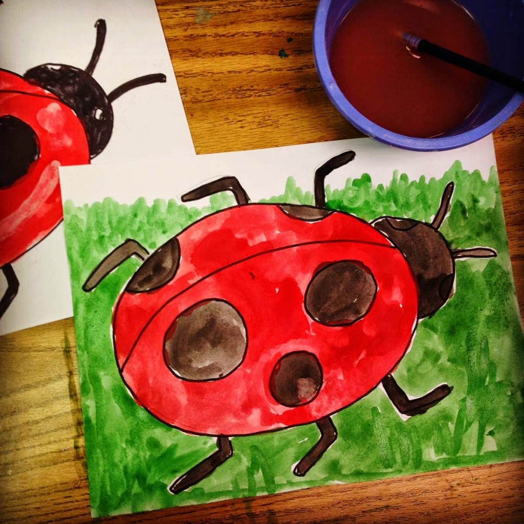 ladybug painting art projects for kids