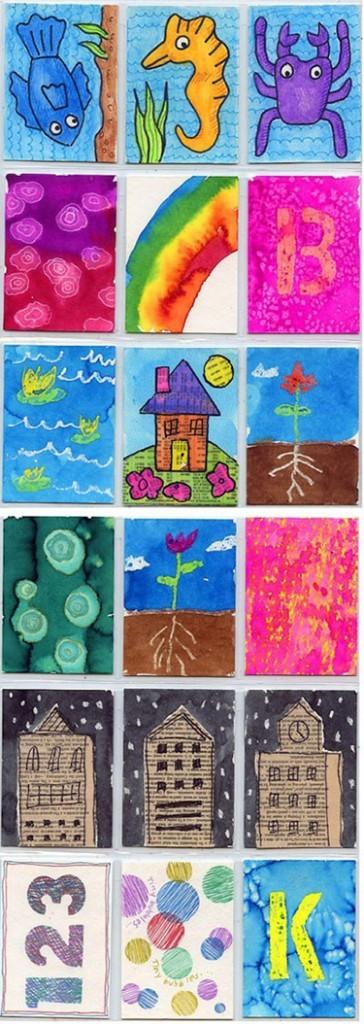 Art Trading Cards for Kids