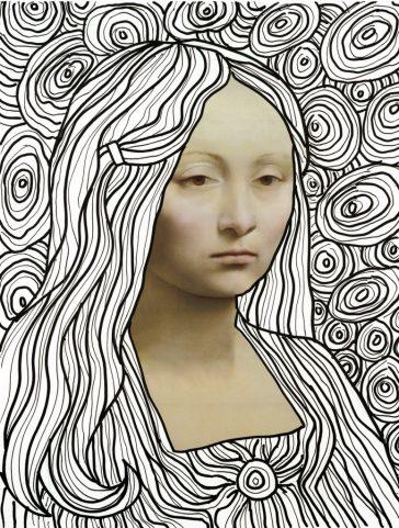 Leonardo Line Art Drawing Template