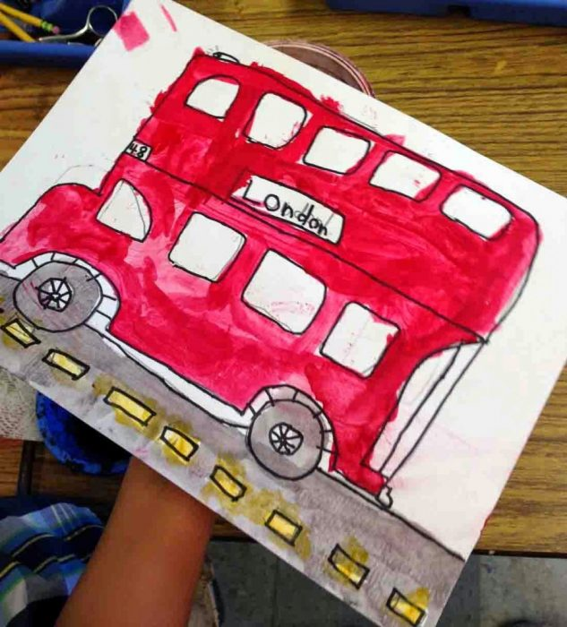 bus drawing for kid