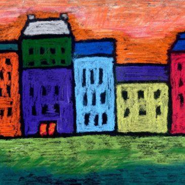 Kandinsky Pastel Cityscape