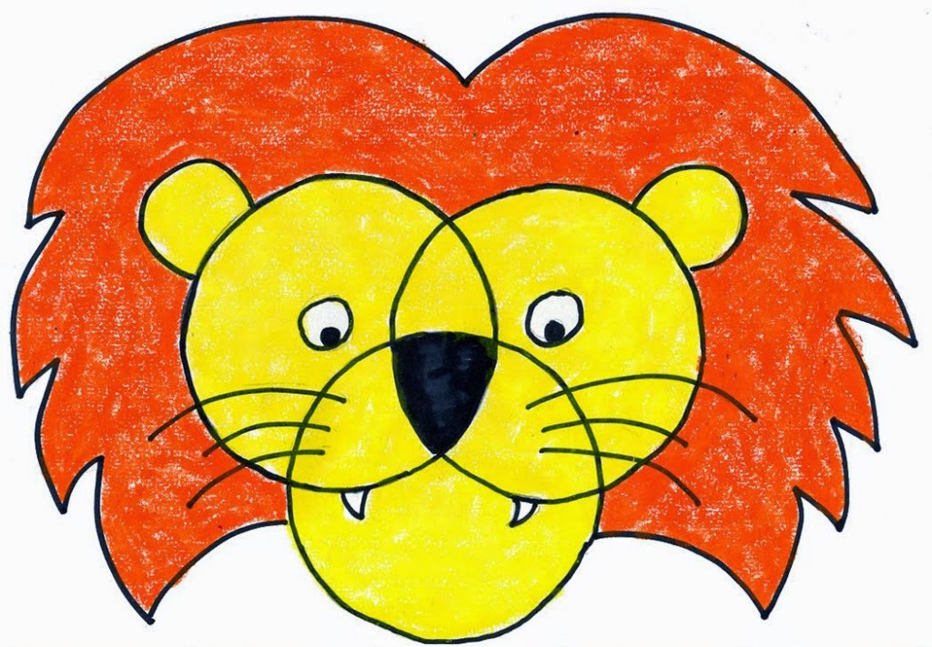 Lion Face Art Projects For Kids