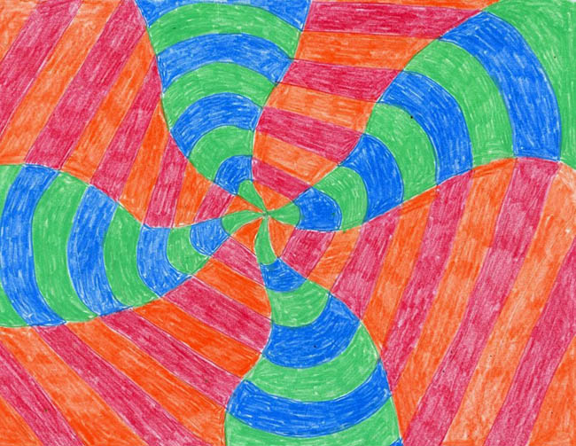 op art art projects for kids