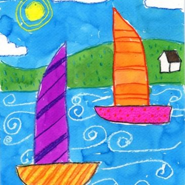 simple sailboat drawing