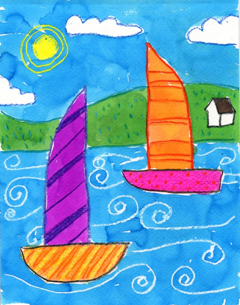 Simple Boat Painting · Art Projects for Kids