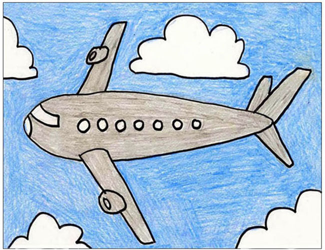 Aeroplane Drawing For Kids