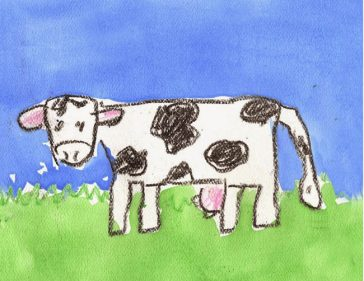 cow drawing step by step
