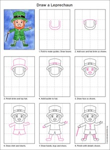 how to draw a leprechaun face step by step