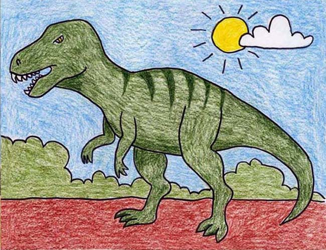 Image result for kids dinosaurs drawing