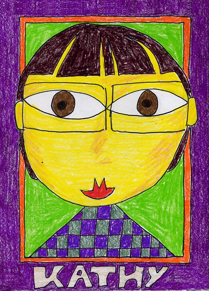 Hundertwasser Style Portrait Drawing · Art Projects for Kids