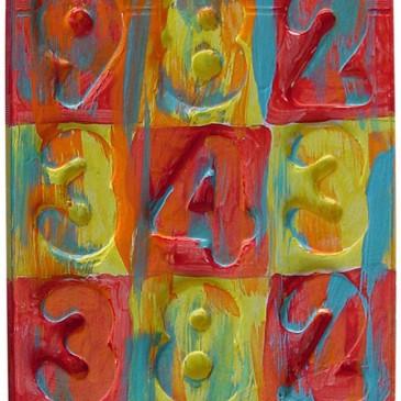 Jasper Johns Number Painting