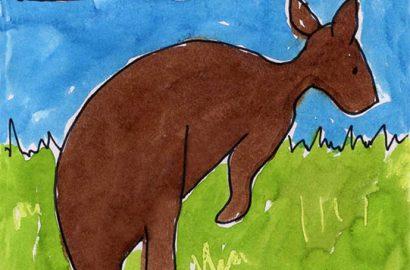How to draw a kangaroo