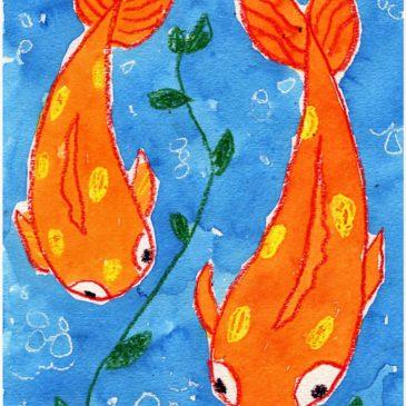 koi fish drawing step by step