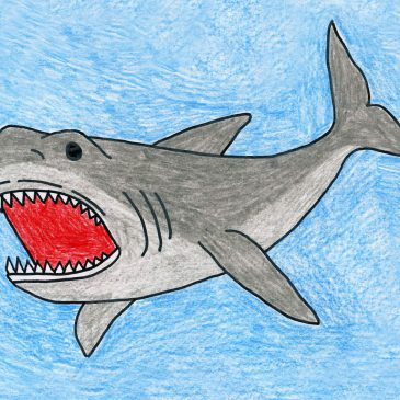 megalodon drawing