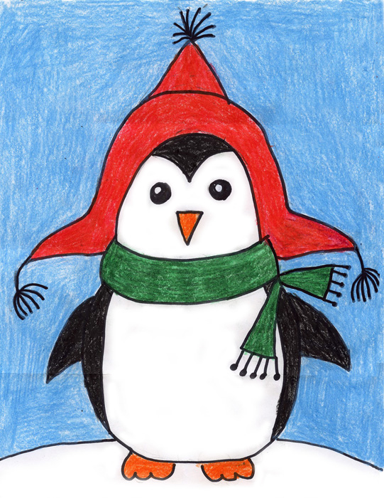 Draw a Cute Penguin