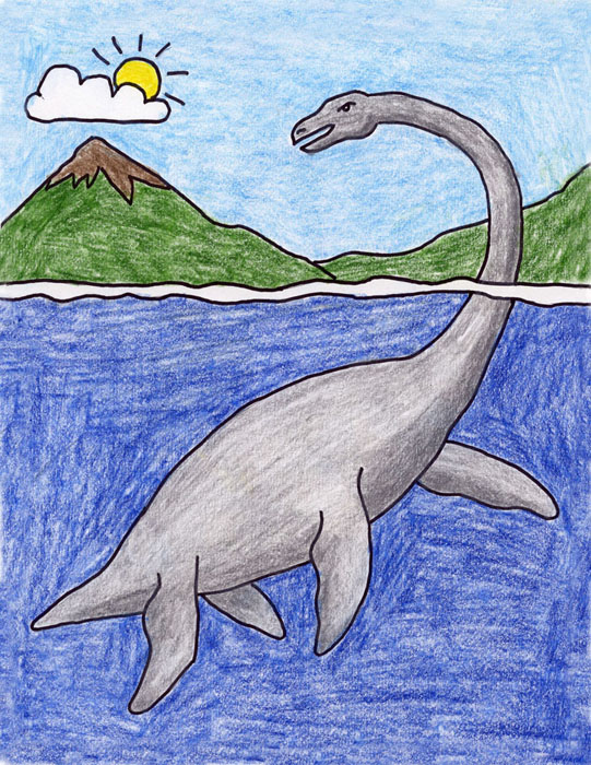 Plesiosaur drawing