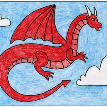 how to draw a red dragon