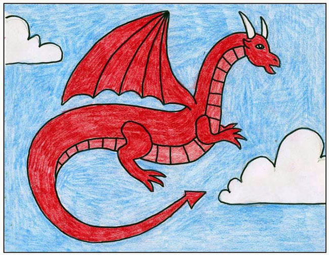 Red Dragon · Art Projects for Kids
