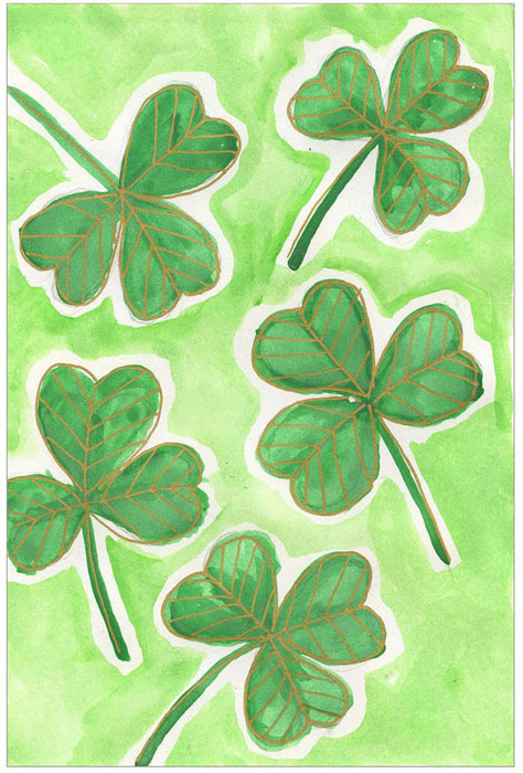 How To Draw A Shamrock Art Projects For Kids