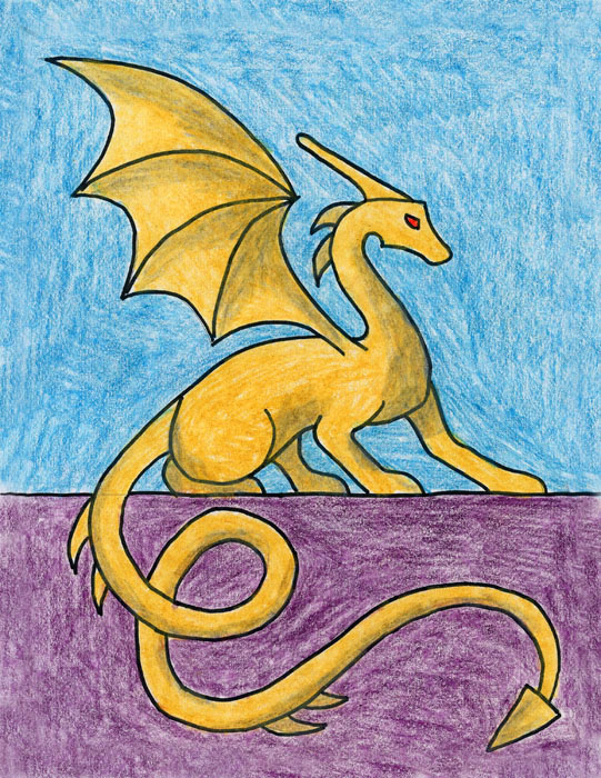 dragon drawing easy