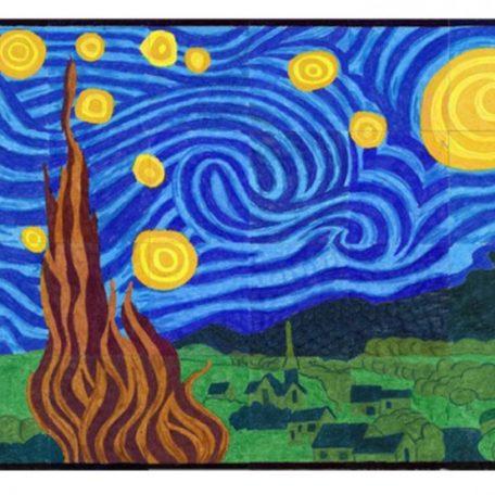 Starry Night collaborative art project