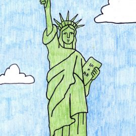 Statue of Liberty easy drawing