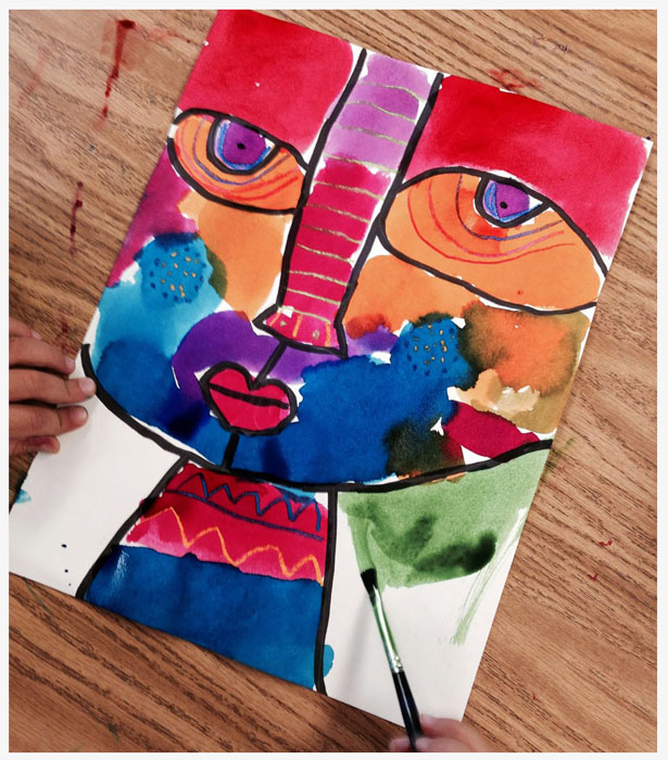 Abstract Face Tutorial · Art Projects for Kids