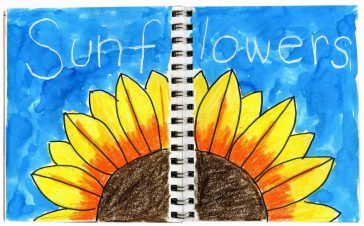 Sunflower Journal Page