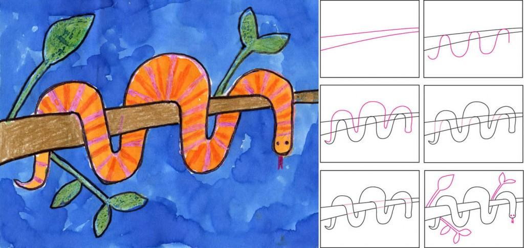 Simple snake drawing