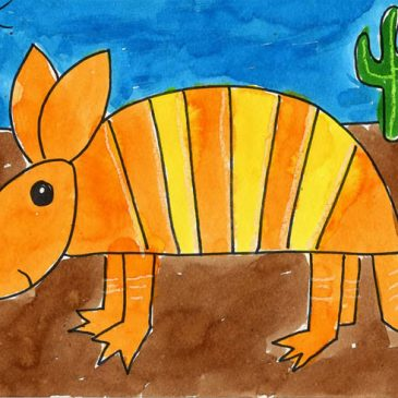 how to draw an armadillo