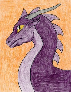 easy to draw dragon