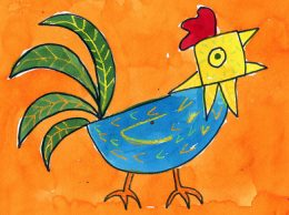 Abstract Rooster