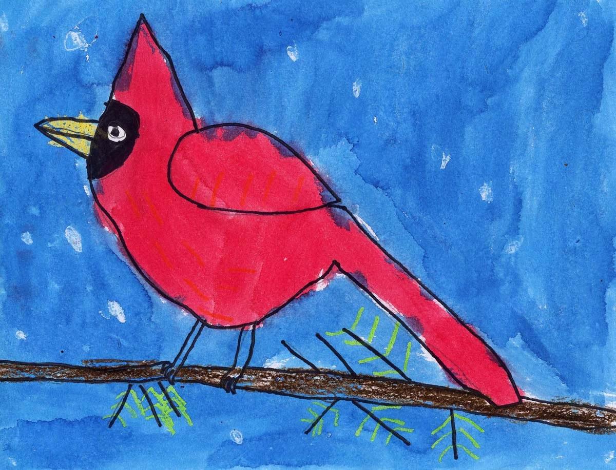caedmon u0027s cardinal art projects for kids