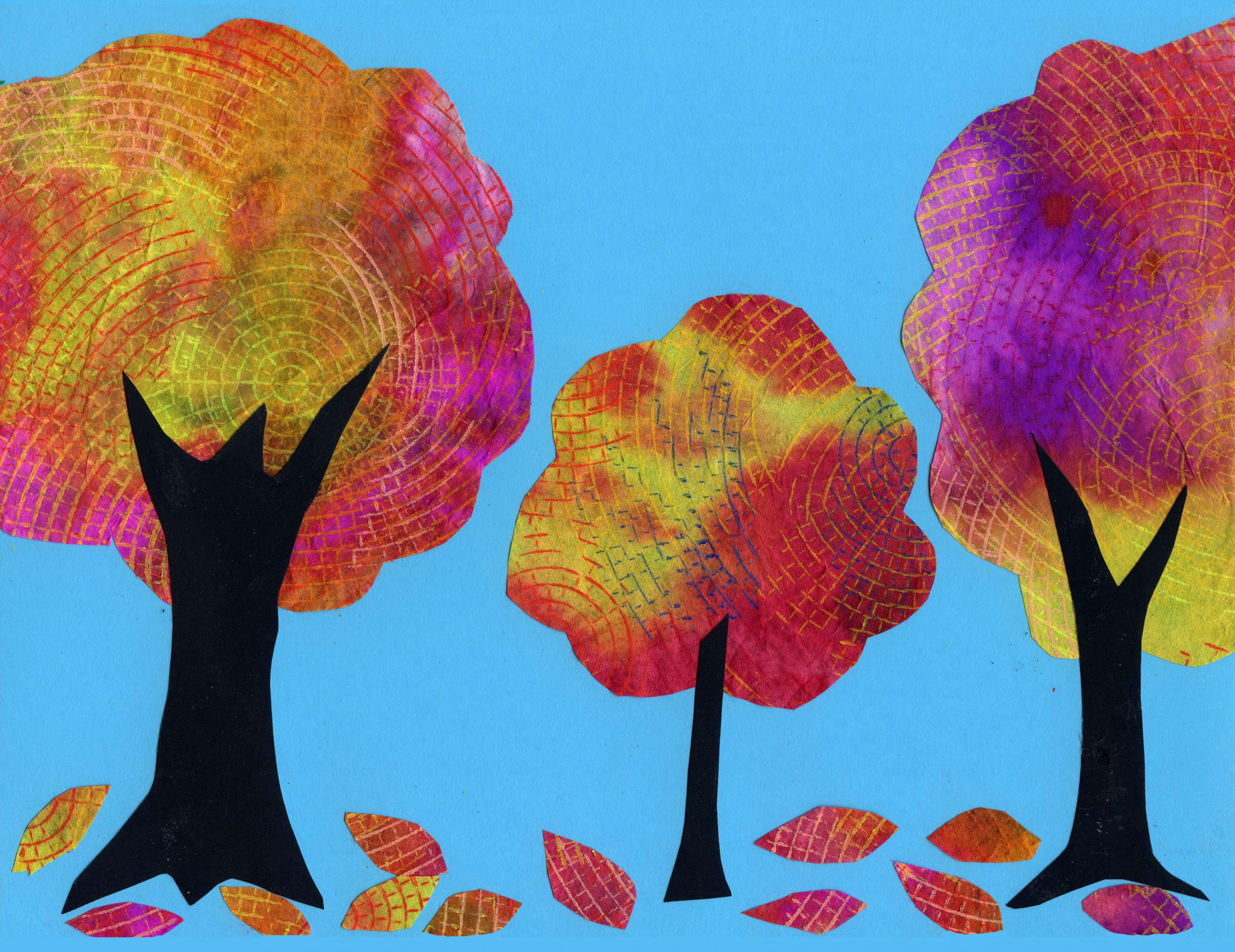 Coffee filter tree art projects for kids for Painting ideas for children
