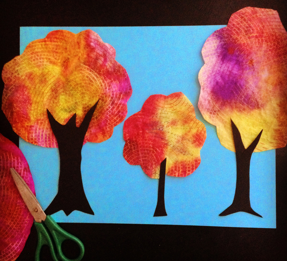Coffee Filter Tree - Art Projects for Kids