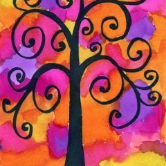 Watercolor Klimt Tree