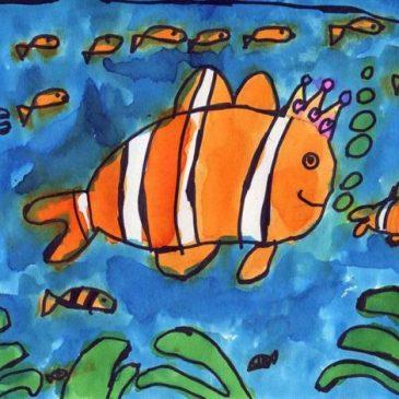 clown fish drawing