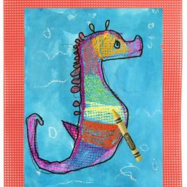 seahorse drawing easy