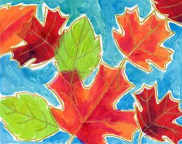 Fall Tissue Paper Leaf Collage