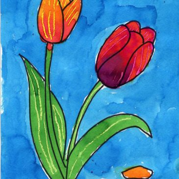 Draw and Paint a Tulip